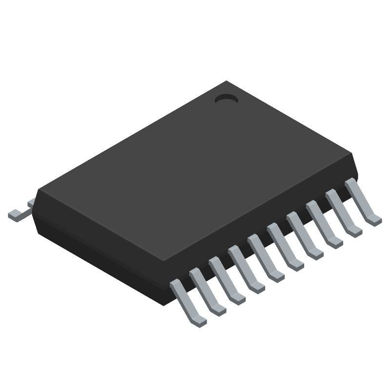 Renesas Electronics R5F10367ASP#X0 (Small Outline Packages) 3D model isometric projection.
