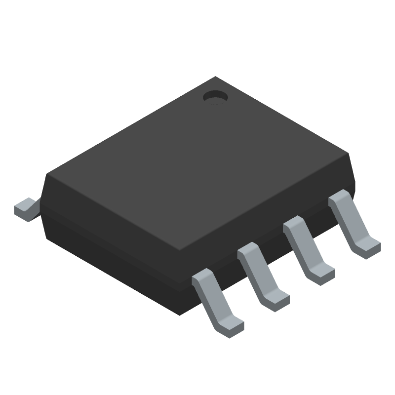 Texas Instruments THS3491IDDAT (Small Outline Packages) 3D model isometric projection.