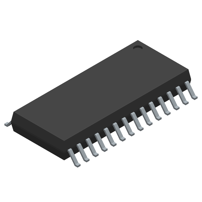 Analog Devices AD7718BRZ (Small Outline Packages) 3D model isometric projection.