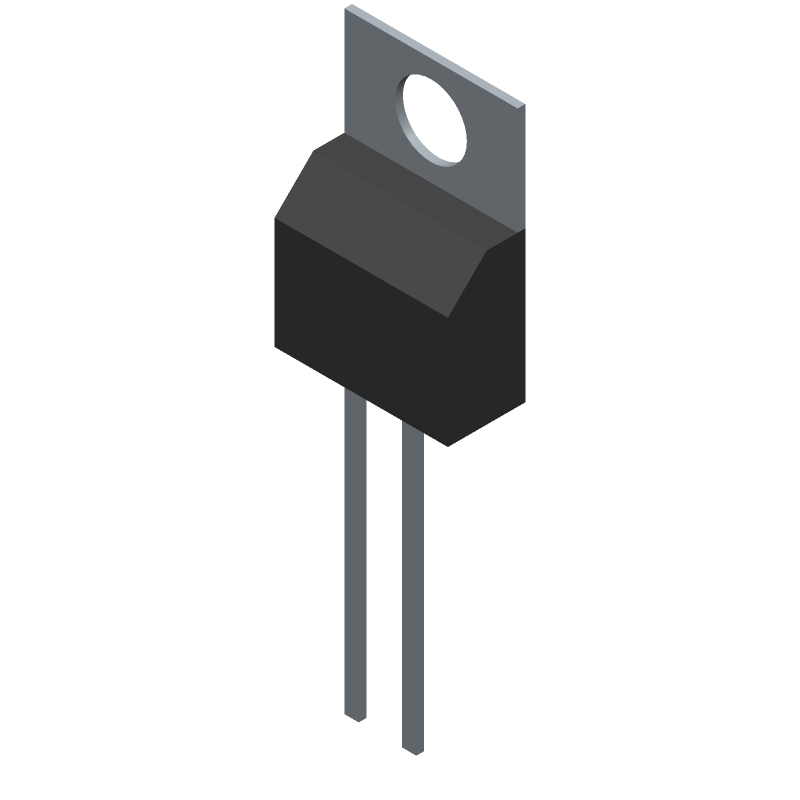 Linear Technology LT1171CT#PBF (Transistor Outline, Vertical) 3D model isometric projection.
