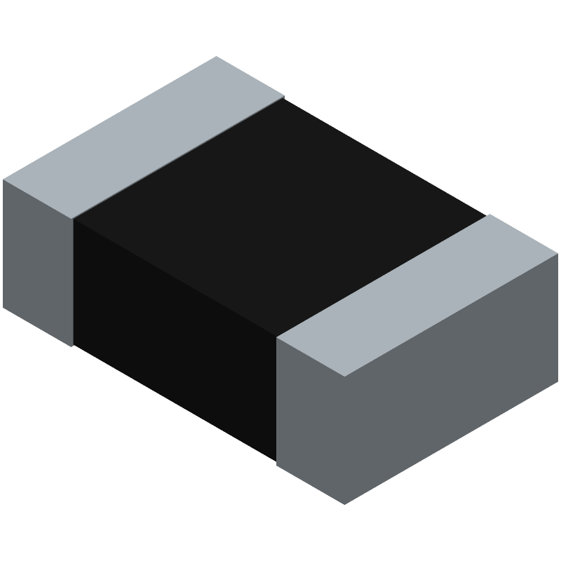 TE Connectivity CRG0805F1K0 (Resistor Chip) 3D model isometric projection.