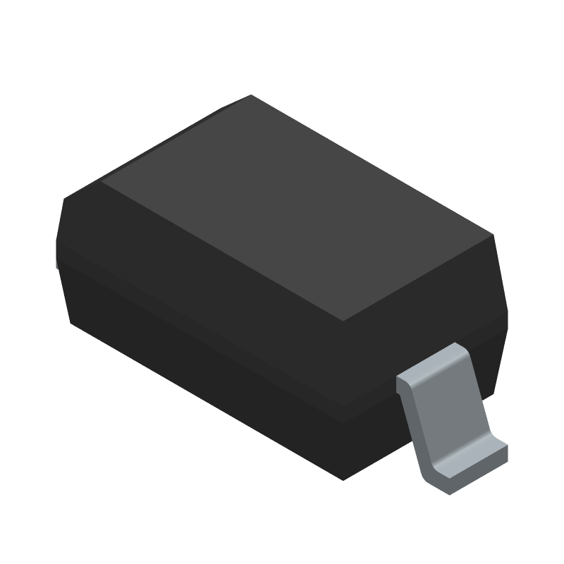 Vishay 1n4148w (Small Outline Diode) 3D model isometric projection.