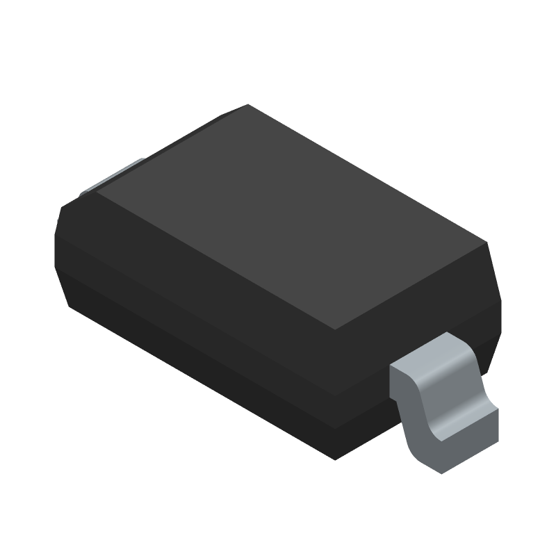 Diodes Inc. 1N4148W-7-F (Small Outline Diode) 3D model isometric projection.