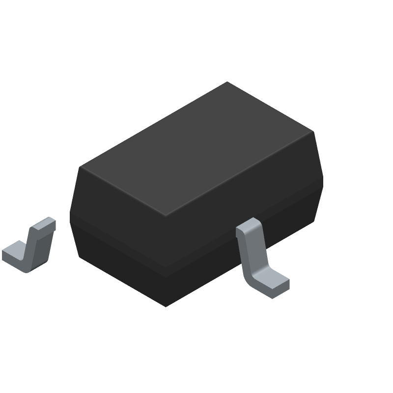 LITTELFUSE SP0502BAHTG (SOT23 (3-Pin)) 3D model isometric projection.
