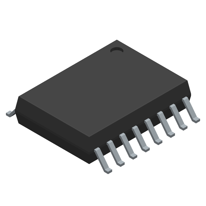 Analog Devices ADUM6000ARWZ (Small Outline Packages) 3D model isometric projection.