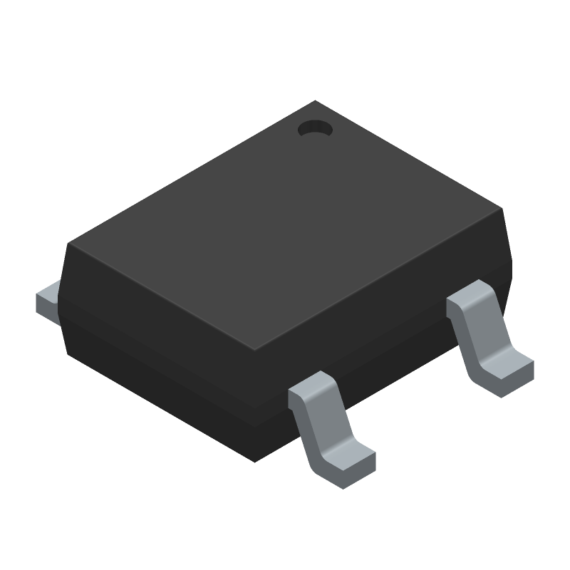 Rectron DB107S (Small Outline Packages) 3D model isometric projection.