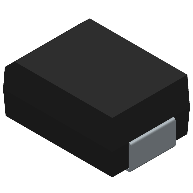 Diodes Inc. S1AB-13-F (Diodes Moulded) 3D model isometric projection.