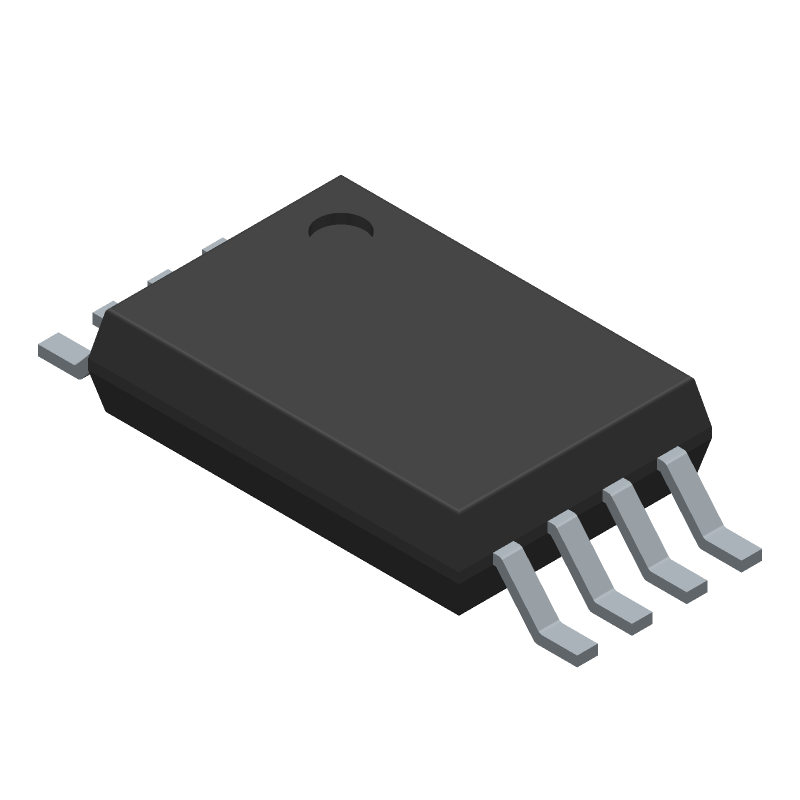 Texas Instruments NE555PWRG4 (Small Outline Packages) 3D model isometric projection.
