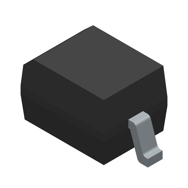 Diodes Inc. 1N4148WS-7-F (Small Outline Diode) 3D model isometric projection.