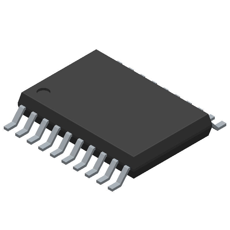 Texas Instruments TXB0108PWR (Small Outline Packages) 3D model isometric projection.
