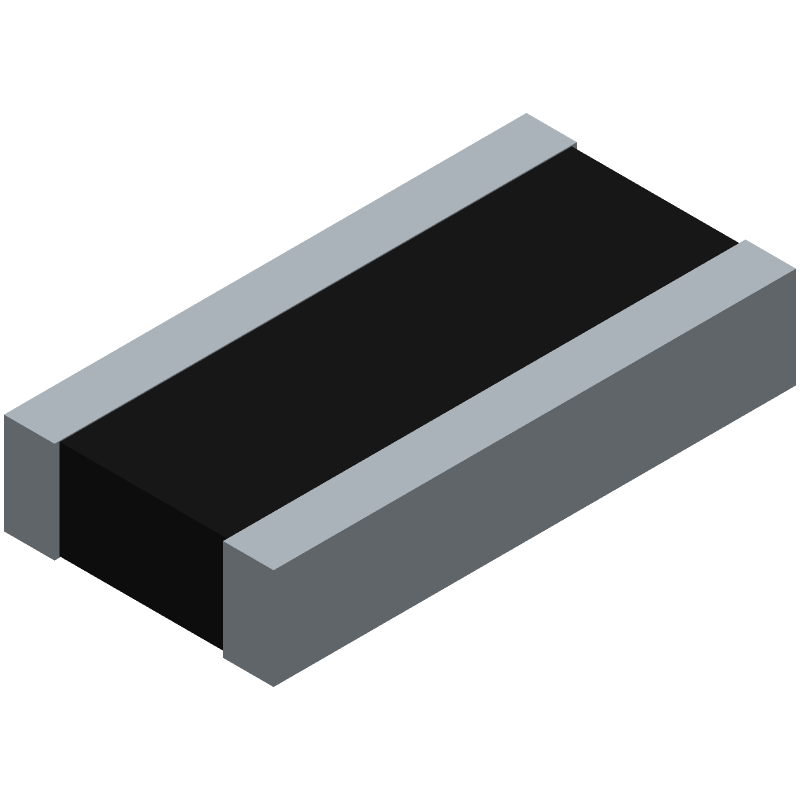 Vishay MCW0612MC2000FP100 (Resistor Chip) 3D model isometric projection.