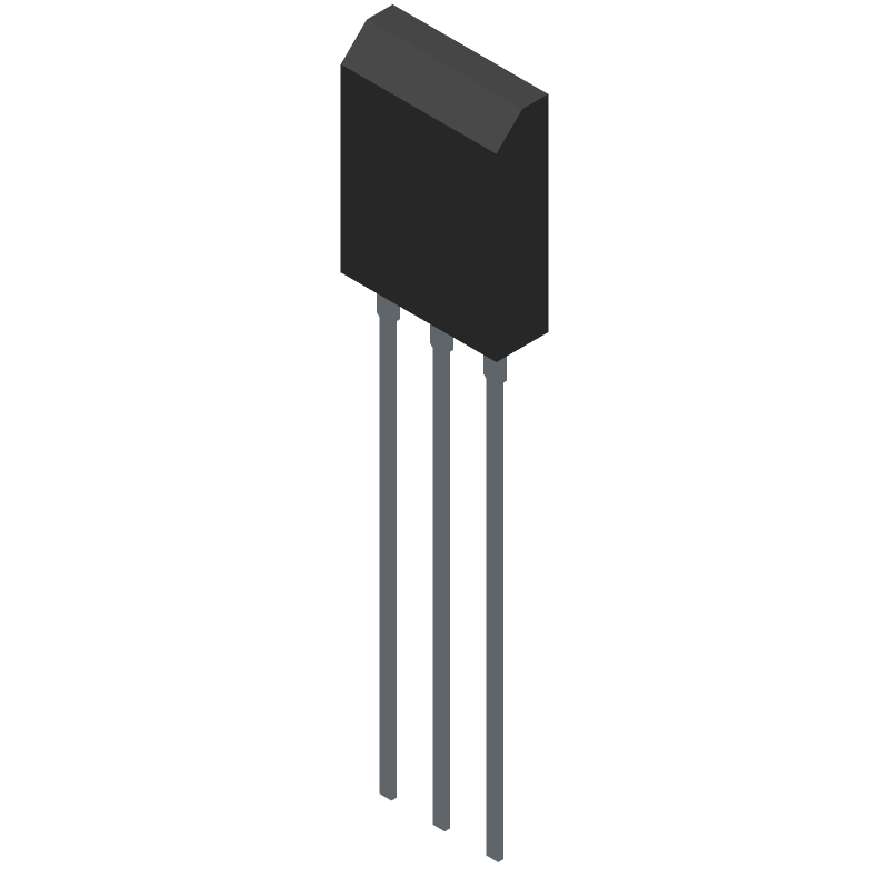 ON Semiconductor NGTB40N120L3WG (Transistor Outline, Vertical) 3D model isometric projection.