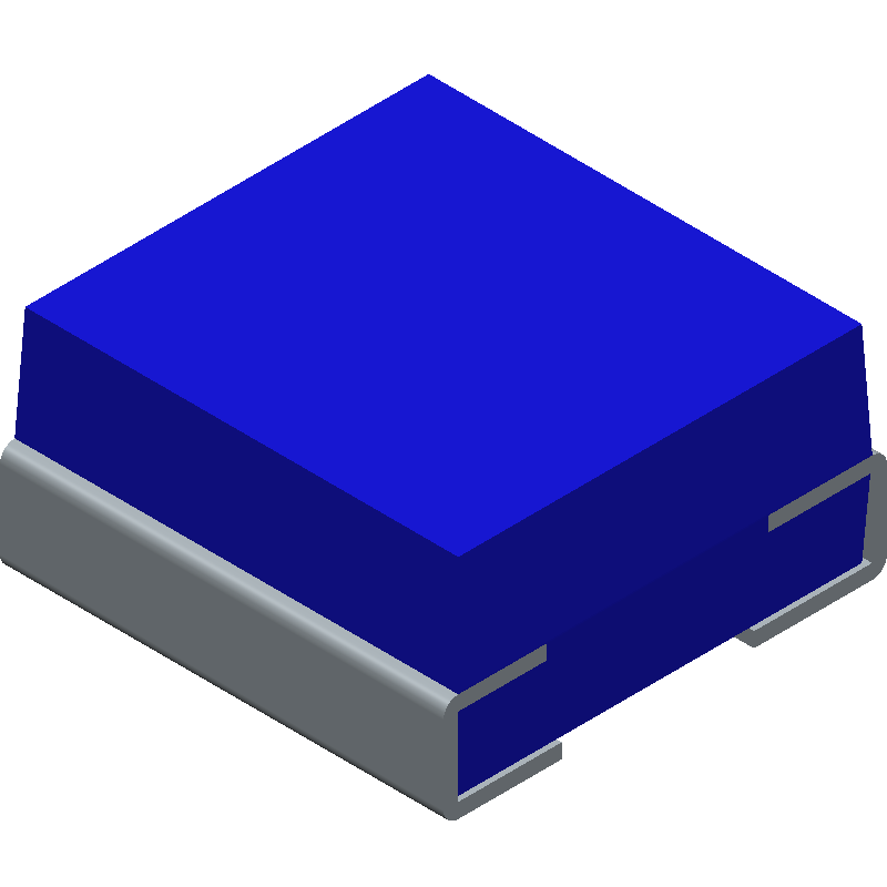 Murata Electronics LQH3NPN100MMEL (Inductors Precision Moulded) 3D model isometric projection.