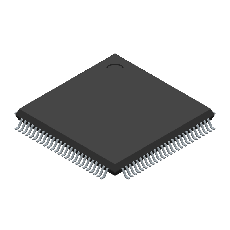STMicroelectronics STM32F401VCT7 (Quad Flat Packages) 3D model isometric projection.