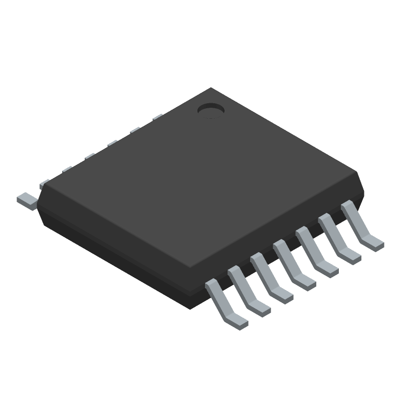 ON Semiconductor NCV47822PAAJR2G (Small Outline Packages) 3D model isometric projection.