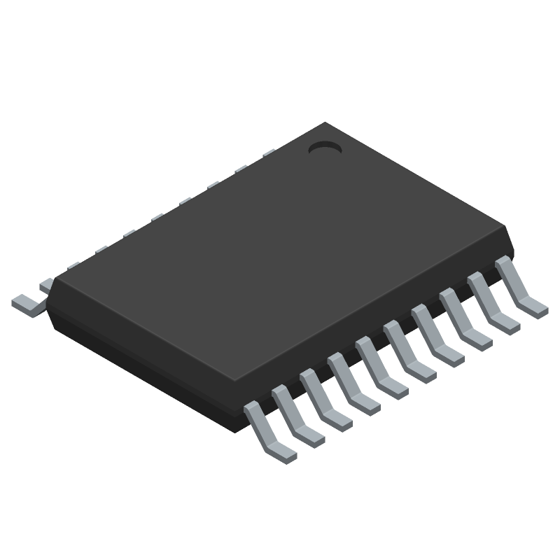 Texas Instruments TXS0108EPWR (Small Outline Packages) 3D model isometric projection.