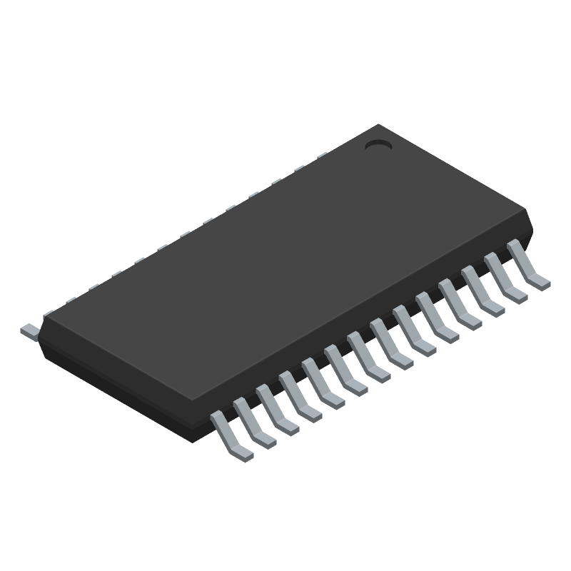 Allegro Microsystems A3941KLPTR (Small Outline Packages) 3D model isometric projection.