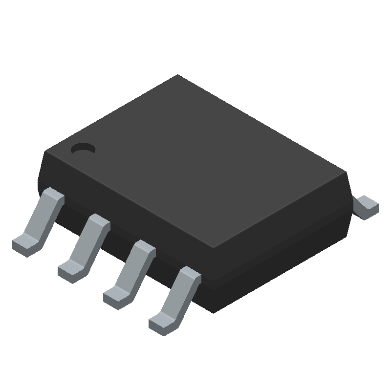 Monolithic Power Systems (MPS) MP1584EN-LF (Small Outline Packages) 3D model isometric projection.