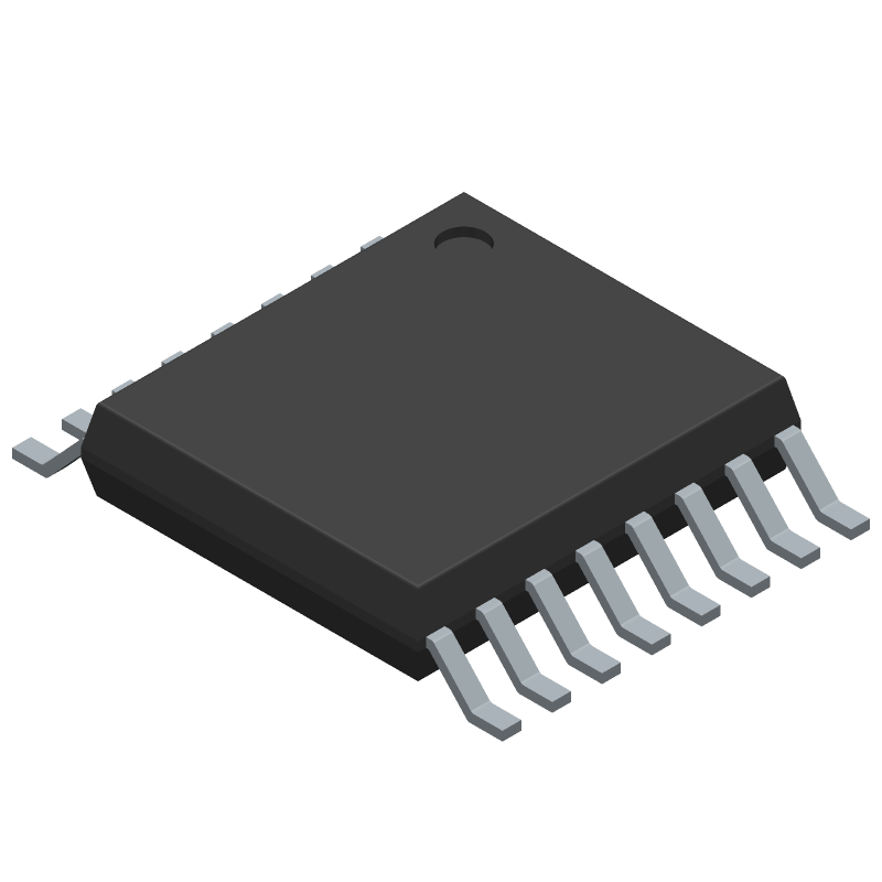 Analog Devices AD5695RARUZ (Small Outline Packages) 3D model isometric projection.