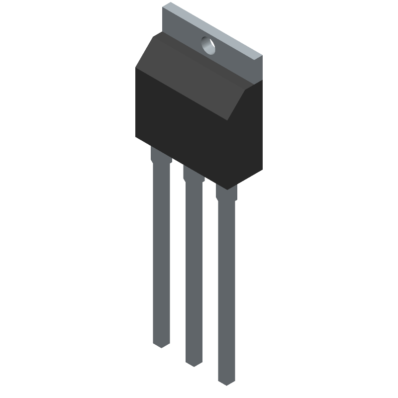 Toshiba 2SK4017(Q) (Transistor Outline, Vertical) 3D model isometric projection.
